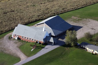 The activity center is located behind our church
